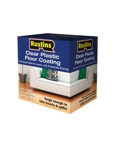 Rustins Clear Plastic Floor Coating Kit Satin 4 Litre - RUSPCFS4L