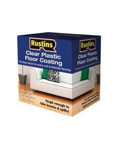 Rustins Clear Plastic Floor Coating Kit Gloss 1 Litre - RUSPFCFK1L