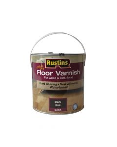 Rustins Quick Dry Coloured Floor Varnish Dark Oak 2.5 Litre - RUSQDCFVDO25