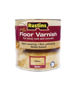 Rustins Quick Dry Floor Varnish Satin 5 Litre - RUSQDFVS5L