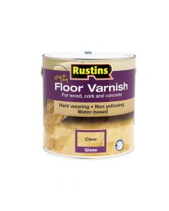 Rustins Quick Dry Floor Varnish Gloss 2.5 Litre - RUSQDFVG25L