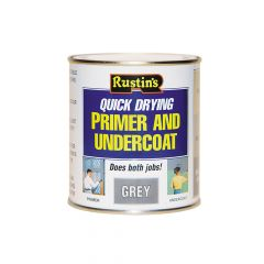 Rustins Quick Dry Primer & Undercoat Grey 500ml - RUSQDPUG500