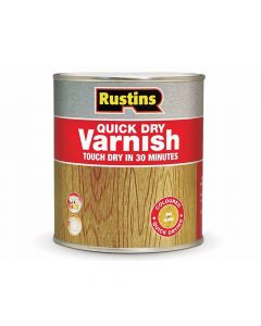 Rustins Quick Dry Varnish Gloss Clear 500ml - RUSQDVGC500