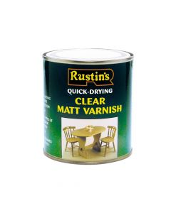 Rustins Quick Dry Varnish Matt Clear 500ml - RUSQDVMC500