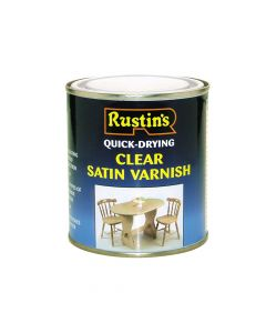 Rustins Quick Dry Varnish Satin Clear 1 litre - RUSQDVSC1L