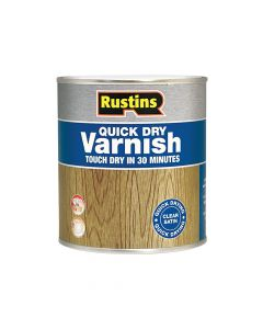 Rustins Quick Dry Varnish Satin Walnut 500ml - RUSQDVSW500
