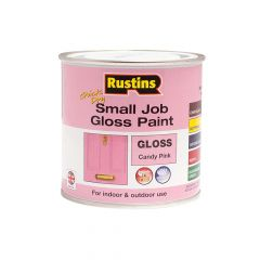 Rustins Quick Dry Small Job Gloss Paint Candy Pink 250ml - RUSSJCPQD