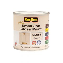 Rustins Quick Dry Small Job Gloss Paint Magnolia 250ml - RUSSJMAGQD