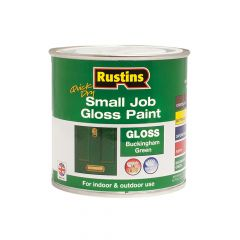 Rustins Quick Dry Small Job Gloss Paint Buckingham Green 250ml - RUSSJPBGQD