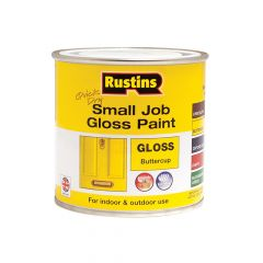 Rustins Quick Dry Small Job Gloss Paint Buttercup 250ml - RUSSJPBUTQD