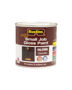 Rustins Quick Dry Small Job Gloss Paint Chocolate 250ml - RUSSJPCHOCQD