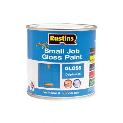 Rustins Quick Dry Small Job Gloss Paint Delphinium 250ml - RUSSJPDELQD