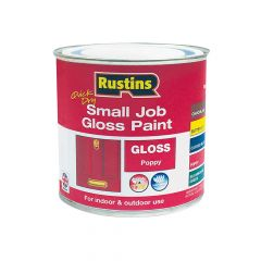 Rustins Quick Dry Small Job Gloss Paint Poppy 250ml - RUSSJPPOPQD