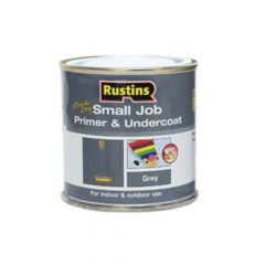 Rustins Small Job Primer & Undercoat Grey 250ml - RUSSJPUGY250