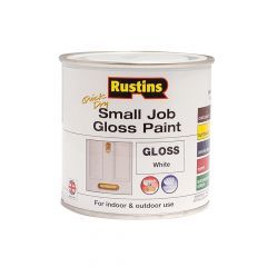 Rustins Quick Dry Small Job Gloss Paint White 250ml - RUSSJPWHQD