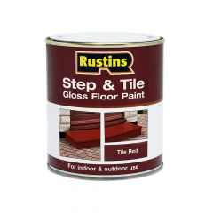 Rustins Quick Dry Step & Tile Paint Gloss Red 2.5 Litre - RUSSTPGR25L