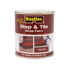 Rustins Quick Dry Step & Tile Paint Gloss Red 500ml - RUSSTP500Q