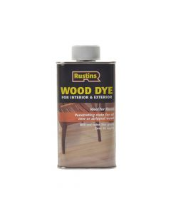 Rustins Wood Dye Ebony 250ml - RUSWDE250