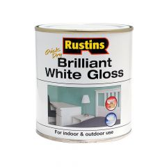 Rustins Quick Dry Brilliant White Gloss 500ml - RUSWGWB500