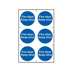 Scan Fire Door Keep Shut - PVC 200 x 300mm - SCA0151