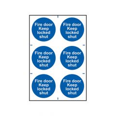 Scan Fire Door Keep Locked Shut - PVC 200 x 300mm - SCA0153