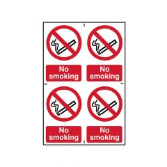 Scan No Smoking - PVC 200 x 300mm (4x 100 x 150mm) - SCA0552