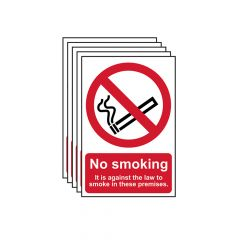 Scan No Smoking In These Premises PVC 200 x 300mm - SCA05675