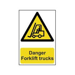 Scan Danger Forklift Trucks - PVC 200 x 300mm - SCA0954