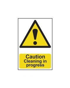 Scan Caution Cleaning In Progress - PVC 200 x 300mm - SCA1114