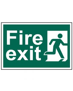 Scan Fire Exit Man Running Right - PVC 300 x 200mm - SCA1507