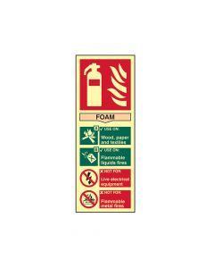 Scan Fire Extinguisher Composite Foam - Photoluminescent 75 x 200mm - SCA1591