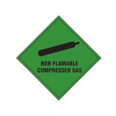 Scan Non Flammable Compressed Gas SAV - 100 x 100mm - SCA1870S