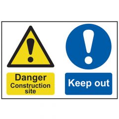 Scan Danger Contruction Site Keep Out - PVC 600 x 400mm - SCA4005