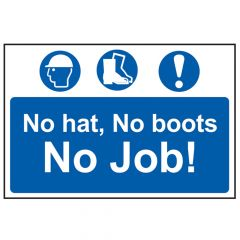 Scan No Hat, No Boots, No Job - PVC 600 x 400mm - SCA4009