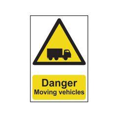 Scan Danger Moving Vehicles - PVC 400 x 600mm - SCA4100