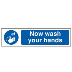 Scan Now Wash Your Hands - PVC 200 x 50mm - SCA5014