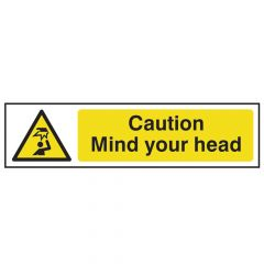 Scan Caution Mind Your Head - PVC 200 x 50mm - SCA5110