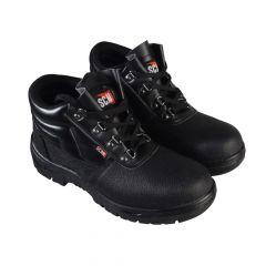 Scan 4 D-Ring Chukka Black Safety Boots UK 9 Euro 43 - SCAFWCHUK9