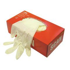 Scan Latex Gloves Box 100 - Medium - SCAGLOLATEXM
