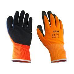 Scan Orange Foam Latex Coated Gloves 13g - Extra Large - SCAGLOLATOXL