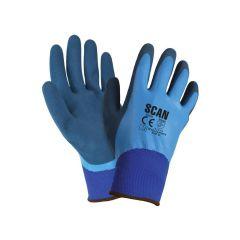 Scan Waterproof Latex Gloves - Large (Size 9) - SCAGLOLATWP