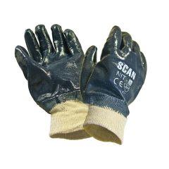 Scan Nitrile Knitwrist Heavy-Duty Gloves - SCAGLONIT