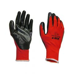 Scan Palm Dipped Black Nitrile Gloves - Extra Large - SCAGLONITBXL