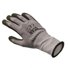 Scan Breathable Microfoam Nitrile Gloves - Large (Size 9) - SCAGLONITMF