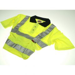 Scan Hi-Vis Yellow Polo Shirt - XL (46in) - SCAWWHVPSXL