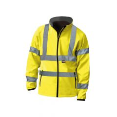 Scan Hi-Vis Yellow Soft Shell Jacket - XL (48in) - SCAWWHVSJXL