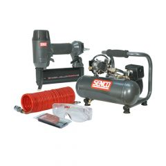 Senco Finish Pro 18 Pneumatic Nailer & 1 HP Compressor Kit 110V - SENPC0964UK1