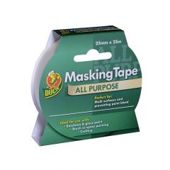 Shurtape Duck Tape All Purpose Masking Tape 25mm x 25m - SHU232147