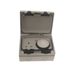 SMJ IP66 13A Socket with 24hr Timer 1 Gang - SMJE61MTB