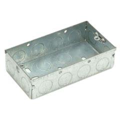 SMJ Metal Box 2 Gang 47mm Depth - Loose - SMJMBB47D